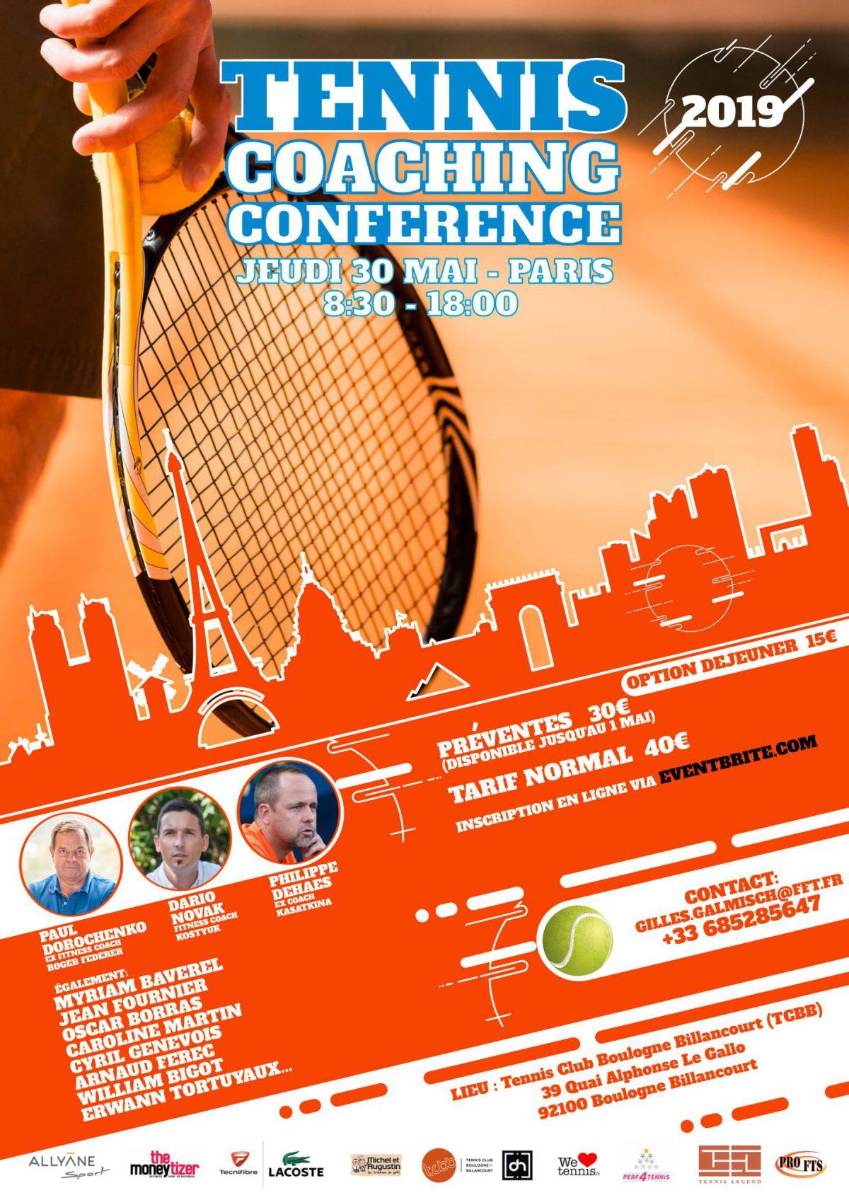 Rendez-vous à l'événement sportif Tennis Coaching Conference