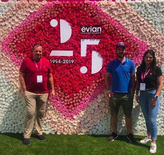 Allyane au master féminin de golf de l'Evian Championship